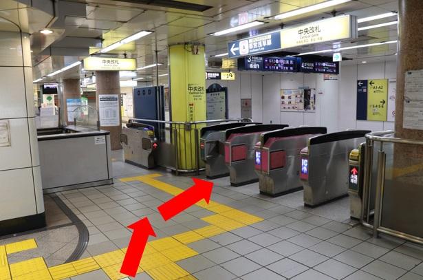 東銀座駅A3出口から当院を目指す場合